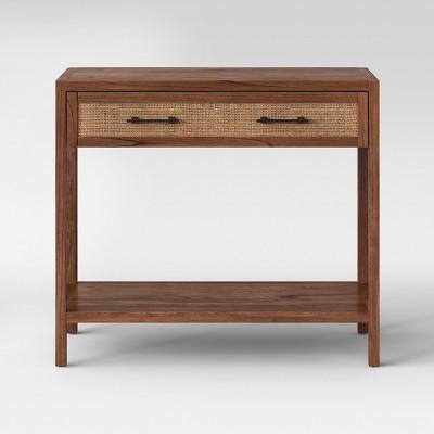 Warwick Wood & Rattan Brown Console Table - Threshold™