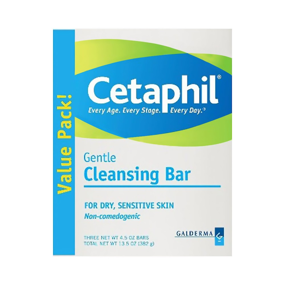 Galderma Cetaphil 3pk Gentle Cleansing Bars 13.5-oz