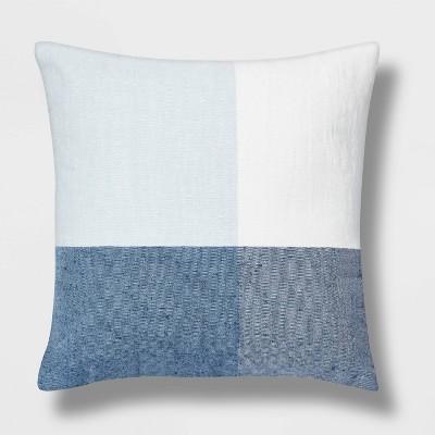 Oversized Square Check Pillow Blue/White - Threshold™