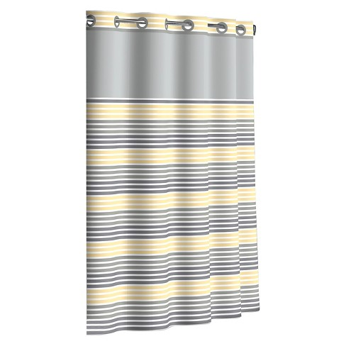 Ombre Stripe Hookless Shower Curtain