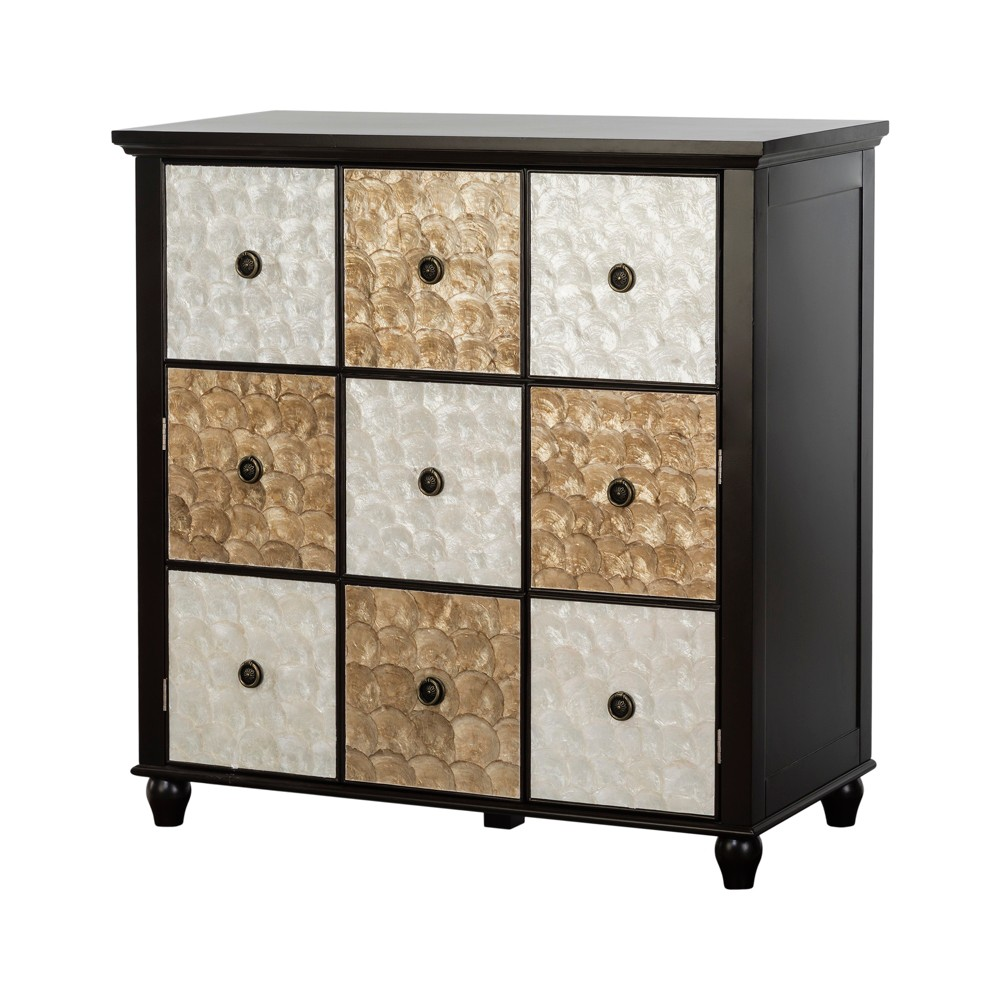 "Image of ""36"""" Durdle Accent Cabinet Espresso - Elegant Home Fashions, Brown"""