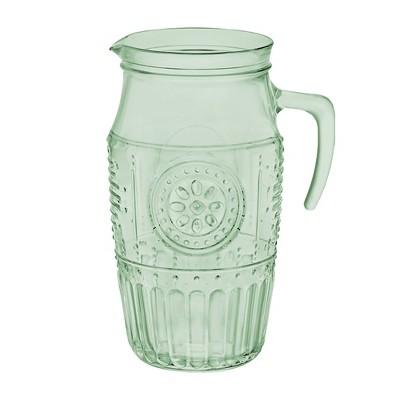 Bormioli Rocco Glass Beverage Pitcher 54oz Green