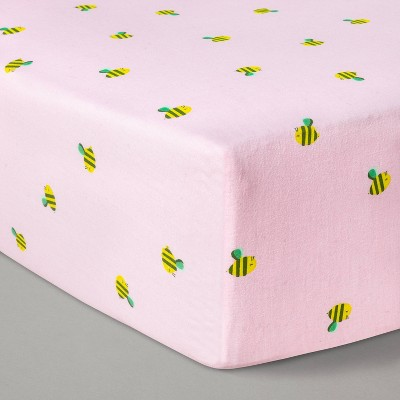 Fitted Crib Sheet Honeybees - Cloud Island™ Pink