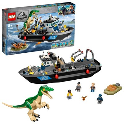 LEGO Jurassic World Baryonyx Dinosaur Boat Escape 76942 Building Kit