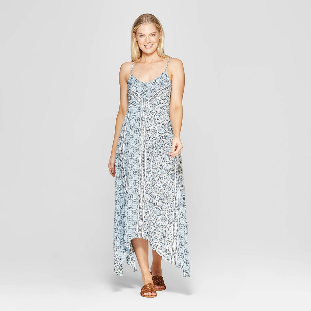 Women's Sleeveless V-Neck Midi Dress - Knox Rose Blue XL