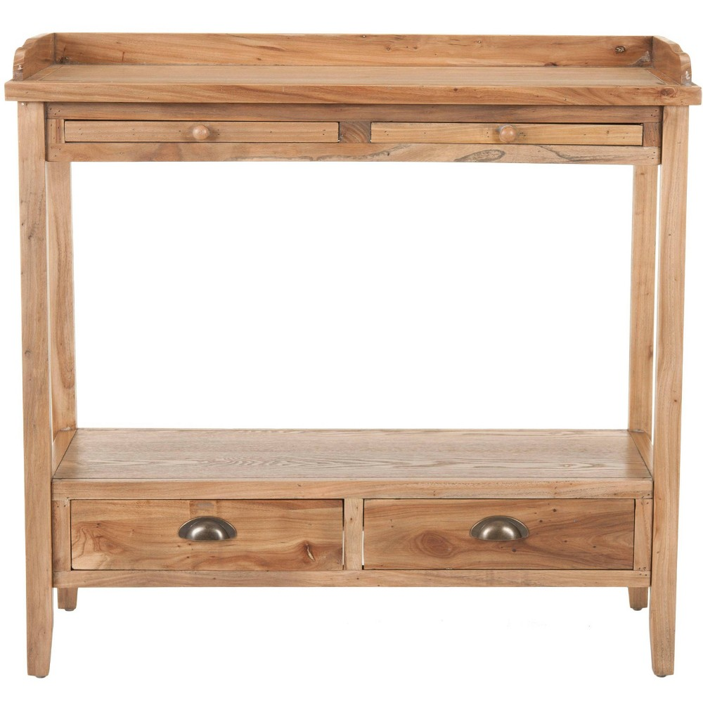 Peter Console Table - Oak (Brown) - Safavieh