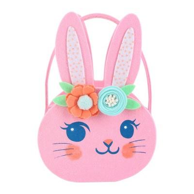 Felt Easter Basket Pink Bunny - Spritz™