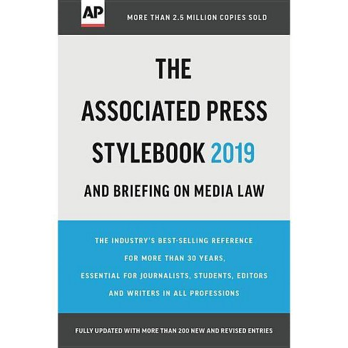 The Associated Press Stylebook 2019 - (Paperback) - image 1 of 1