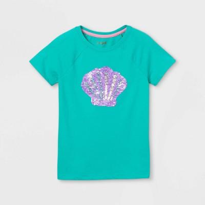 Girls' Flip Sequin Seashell Short Sleeve T-Shirt - Cat & Jack™