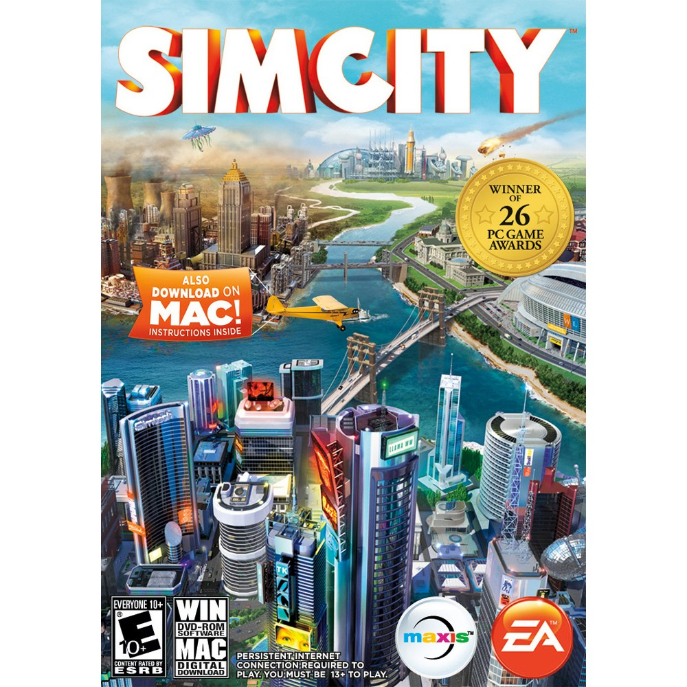 SimCity - PC Game Digital What is Electronic Software Download or Digital Code product? Electronic Software Download or delivered product is just like box software equivalent. This is a full version of the software, usually with the exact same End User License Agreement (license/use rights). The customer downloads the product directly to their computer from the Publisher site or a secure source endorsed by the Publisher rather than installing from a disk. The download link, instructions and license key are set to the customer via email, usually in 1-3 hours from purchase (deliveries can take up to 24 hours). Product keys are available if lost, and product can be re-installed if needed. For services, the key that is sent is all that is needed to activate the service from the manufacturers site. Email communication will come from our service provider at (noreply@esd.synnex.com). To redeem your download code, you will to use a partner's website. Target is not responsible for the content, products or services on our partner website.