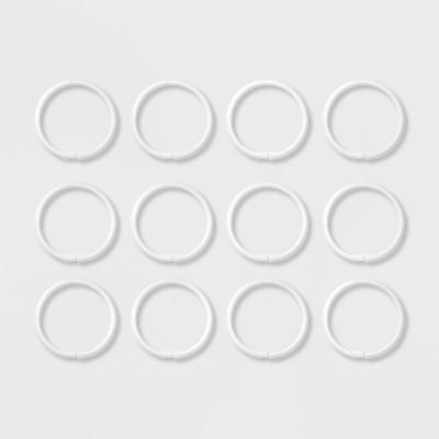 Plastic Shower Rings White - Room Essentials™