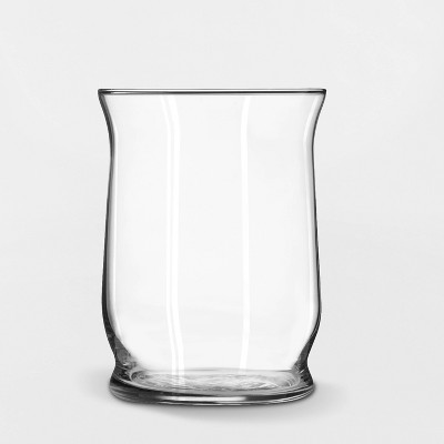 "6"" x 4.6"" Decorative Hurricane Glass Vase Clear - Threshold™"