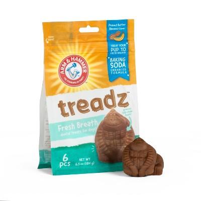 Arm & Hammer Treadz Peanut Butter Flavor Dental Dog Treats - 6ct