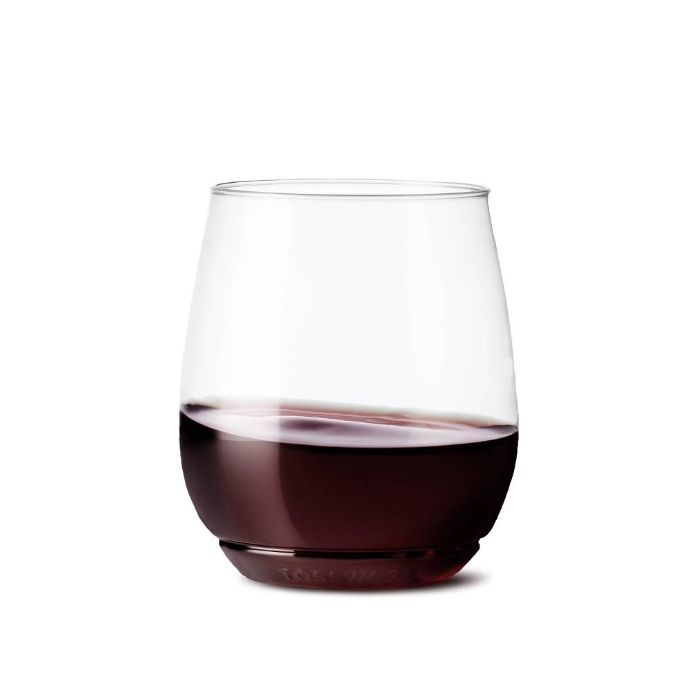 Image of 14oz Vino Plastic Wine Glasses Set of 48 Clear - TOSSWARE
