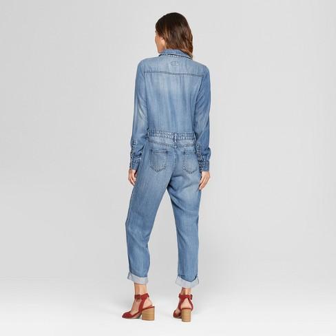d528ff5bf83 Women s Denim Jumpsuit - Universal Thread™ Medium Wash   Target