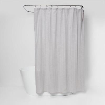Tonal Striped Shower Curtain Gray - Threshold™