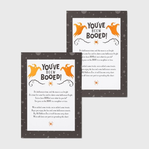 2ct You've Been Booed Halloween Postcard - Hyde & EEK! Boutique™ - image 1 of 1