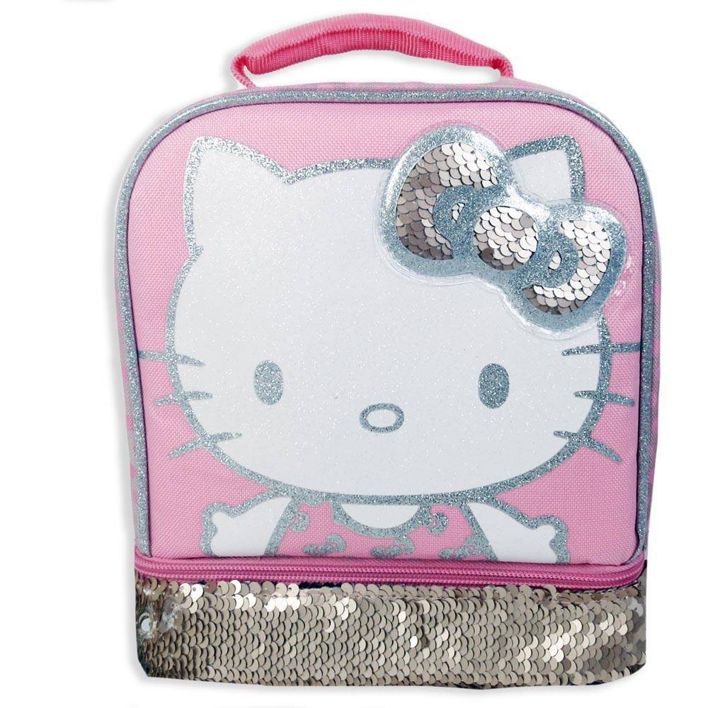 Image of Hello Kitty Dual Dual Compartment Lunch Bag - Pink