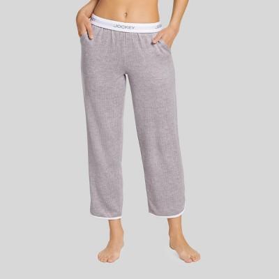 Jockey Generation™ Women's Retro Vibes Ribbed Pajama Pants - Gray Heather M