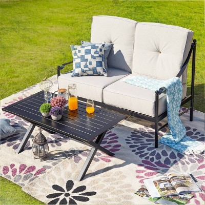 2pc Loveseat Patio Seating Set - Patio Festival