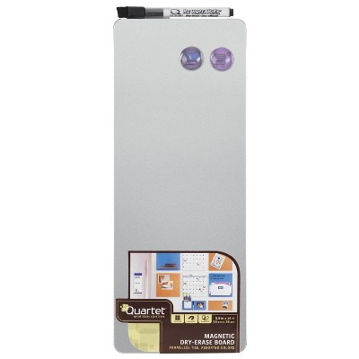 """Quartet 5.5"""" x 14"""" Frameless Magnetic Dry Erase Board"""