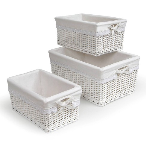 Badger Decorative Basket with White Liners Set of 3 - image 1 of 4