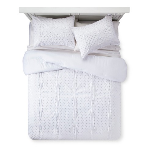 White With Gold Foil Comforter Set Xhilaration