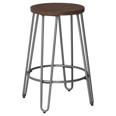 Quinn 24  Counter Stool - Natural Metal - Reservation Seating