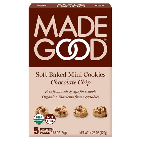 MadeGood Gluten Free Vegan Organic Chocolate Chip Soft Baked Cookies  - 4.25oz - image 1 of 4