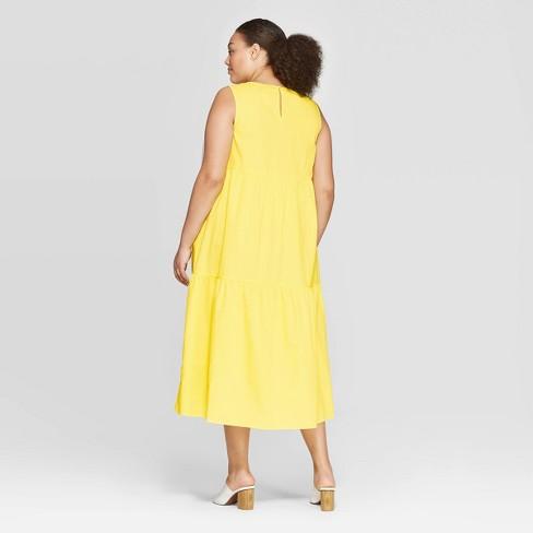 Women\'s Plus Size Sleeveless Crewneck Tiered Maxi Dress - Who What ...
