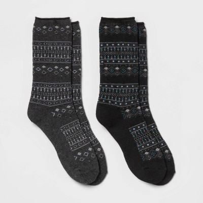 Women's Heavyweight Cushioned Fairisle 2pk Crew Socks - All in Motion™ 4-10