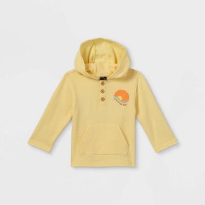 Toddler Boys' Hooded Sweatshirt - art class™ Yellow