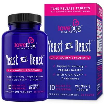 LoveBug Probiotics Yeast is a Beast Women's Health Dietary Supplement Capsules - 30ct