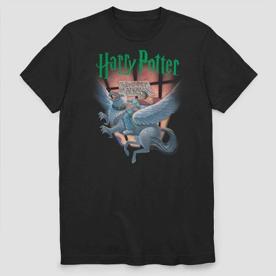 Men's Warner Bros. Harry Potter Prisoner of Azkaban Cover Short Sleeve Graphic Crewneck T-Shirt - Black