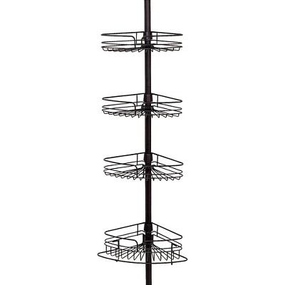4Tier Rust Resistant Bathtub & Shower Pole Caddy Heritage Bronze - Zenna Home