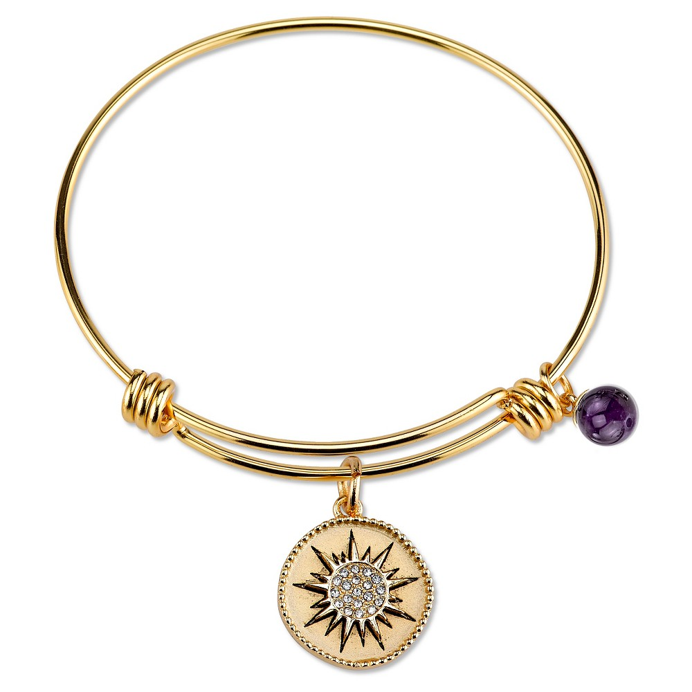 Women's Stainless Steel You are my sunshine Expandable Bracelet - gold (8), Silver