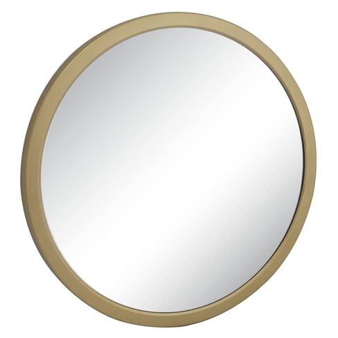 "20"" Iron Indoor/Outdoor Mirror Gold - Threshold™ - image 1 of 1"