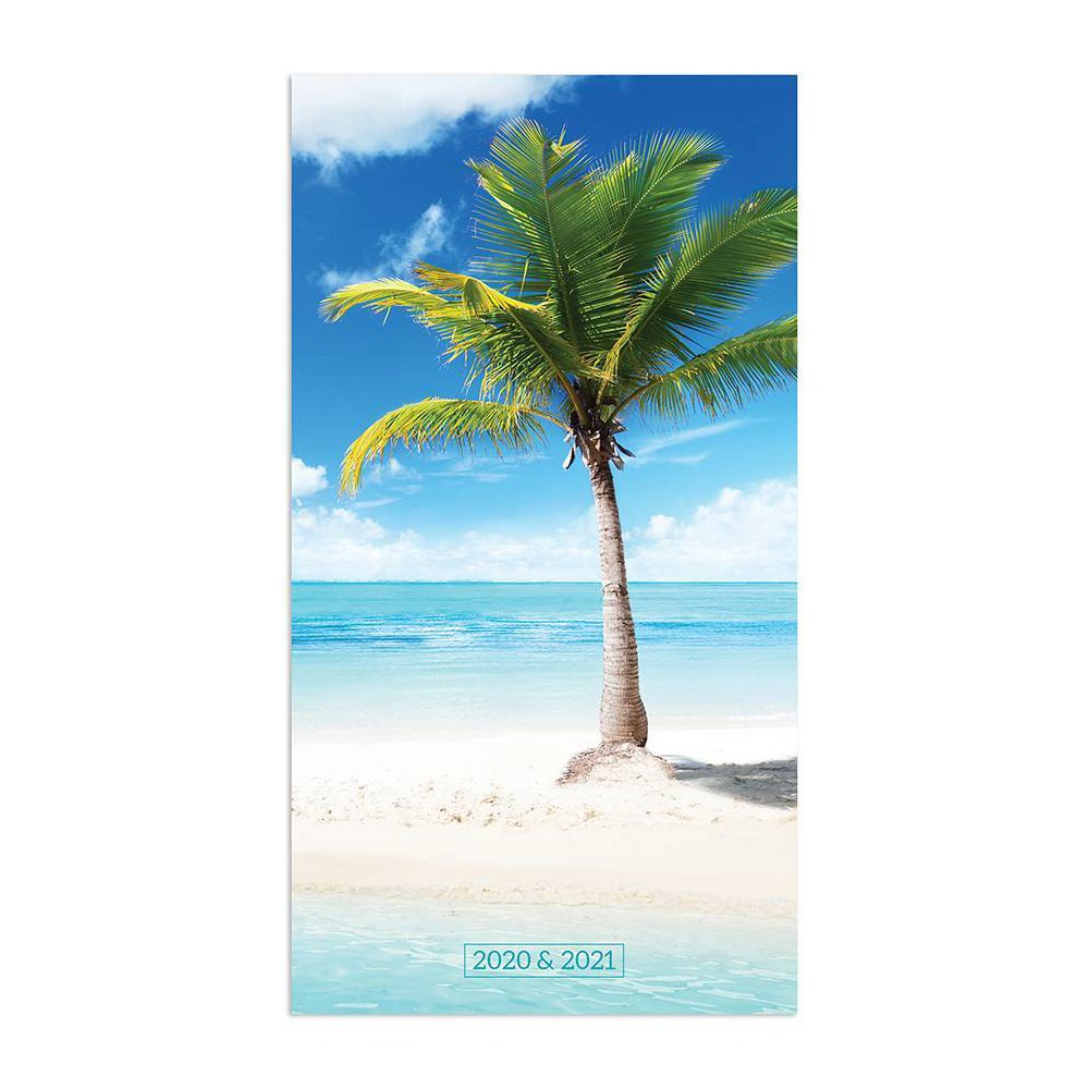 """Image of """"2020-21 2yr Planner 6.5"""""""" x 3.5"""""""" Tropical Beaches"""""""