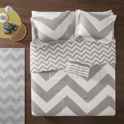Leo Comforter Set (Full/Queen)4pc - Gray