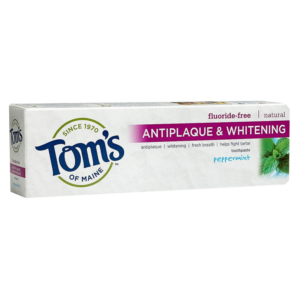 Image of Tom's of Maine Antiplaque and Whitening Peppermint Natural Toothpaste - 5.5oz