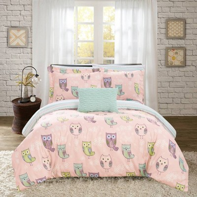 6pc Twin Horned Bed In A Bag Comforter Set Pink - Chic Home Design