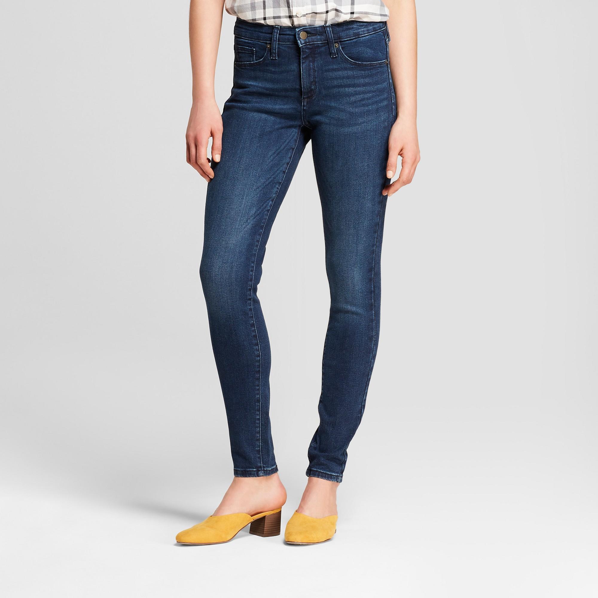 Women's High-Rise Skinny Jeans - Universal Thread Medium Wash 14 Short, Blue