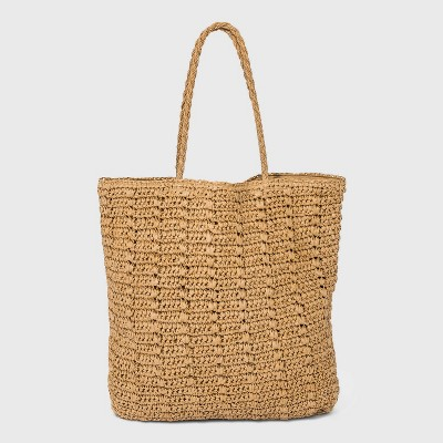 Straw Tote Handbag - Universal Thread™