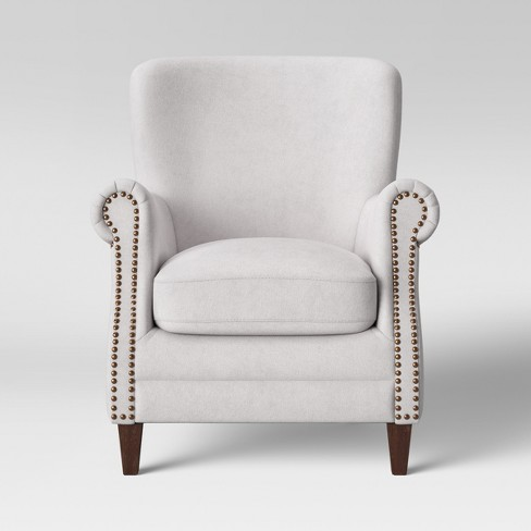 Deerfield Rolled Arm Club Chair Cream - Threshold™ - image 1 of 4