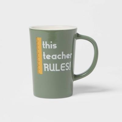 16oz Stoneware This Teacher Rules Mug - Room Essentials™