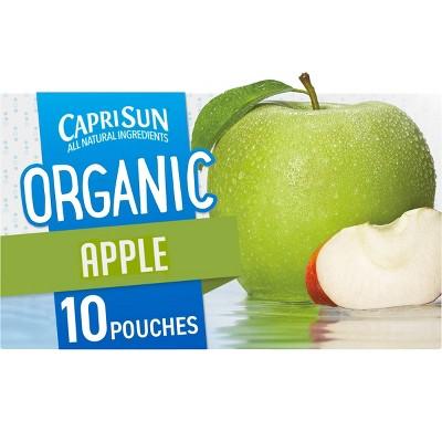 Capri Sun Organic Apple Juice - 10pk/6 fl oz Pouches