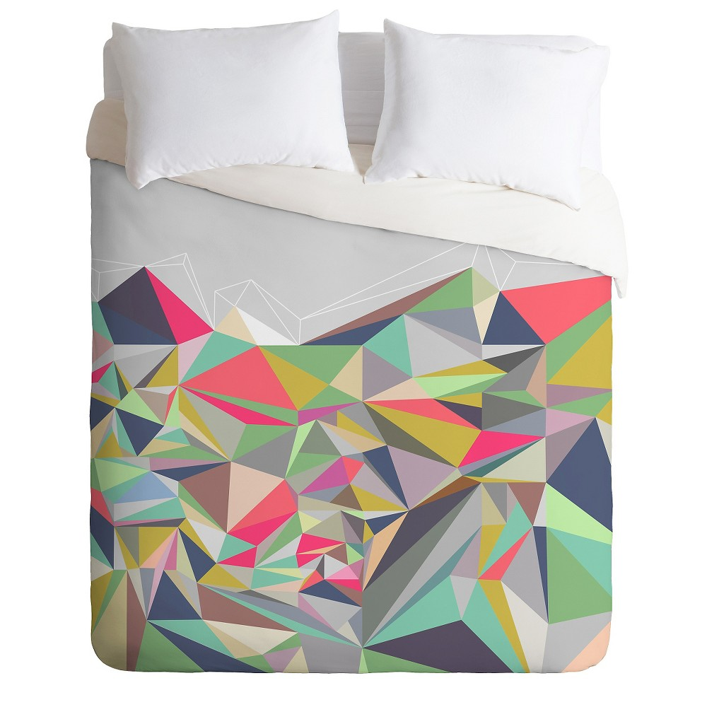Mareike Boehmer Graphic 99 X Lightweight Duvet Cover King Gray - Deny Designs, Multicolored