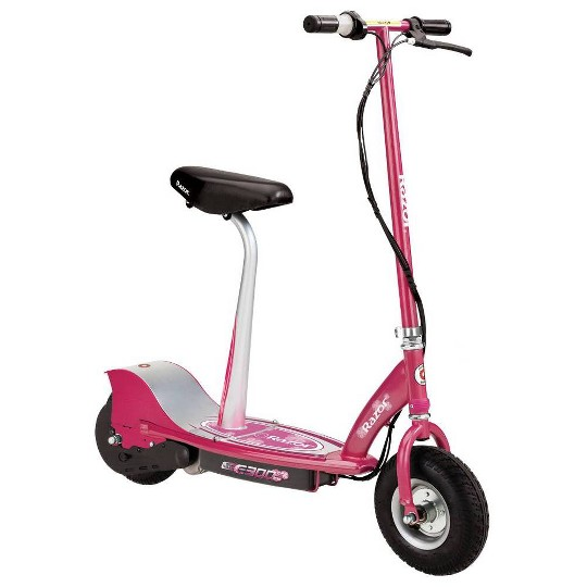 Razor E300S Seated Rear Wheel Drive Electric Powered Scooter - Sweet Pea, Kids Unisex, Pink image number null