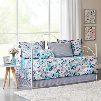 6pc Brie Delle Reversible Daybed Set Blue