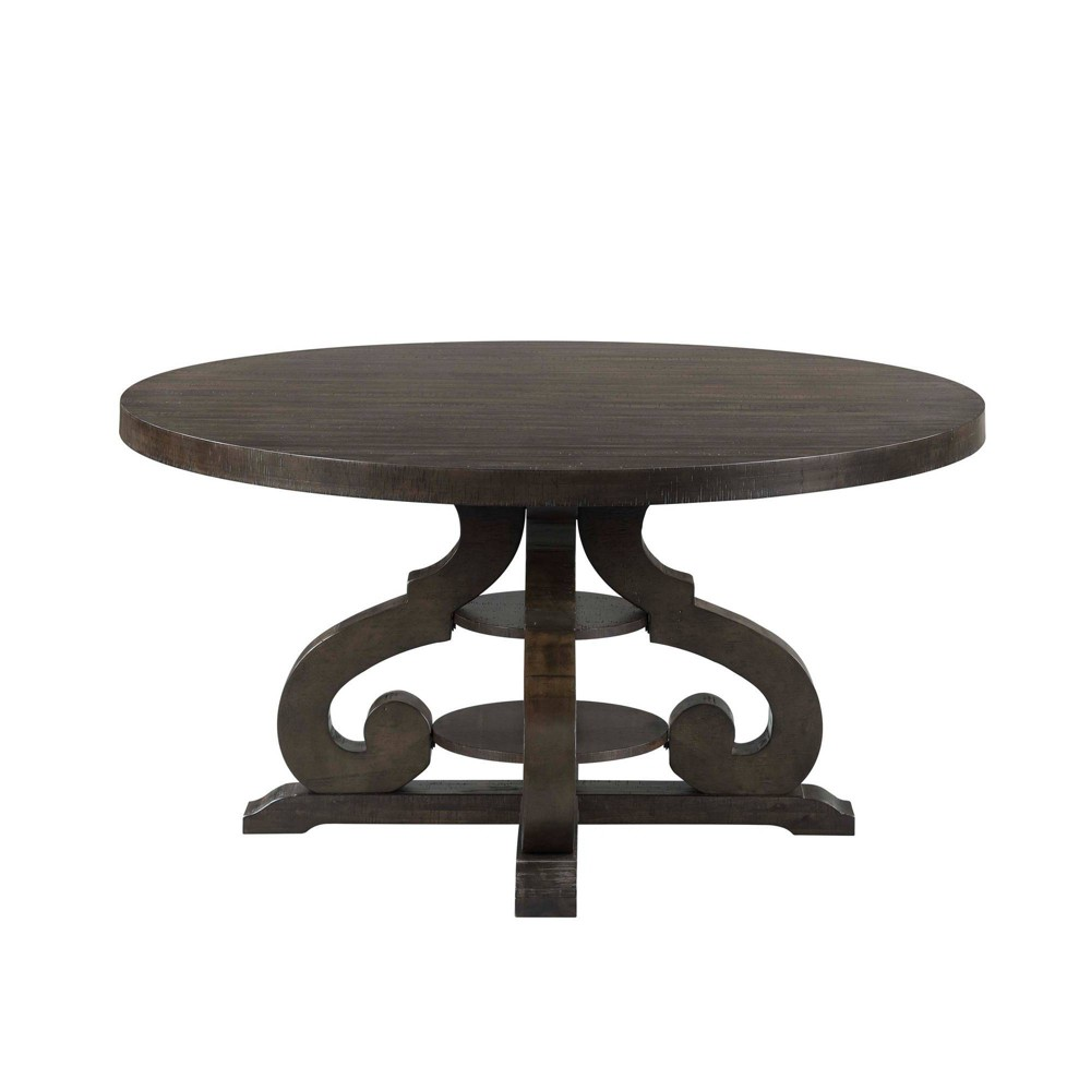 Stanford Round Dining Table Brown - Picket House Furnishings